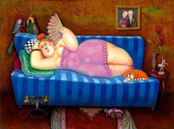 Lady On the Couch 30x46