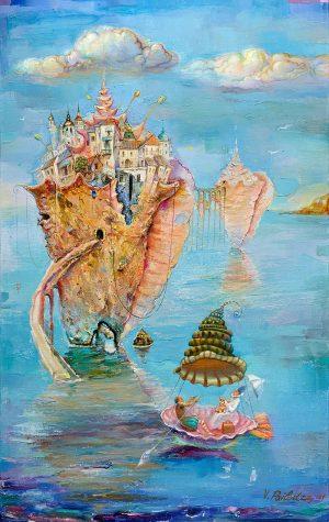 Romance in the Sea 19x30