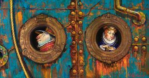 Two Passengers on a Ship 22x42
